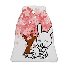 Rabbit Bunnies Animal Cute Tree Bell Ornament (2 Sides)