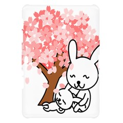 Rabbit Bunnies Animal Cute Tree Samsung Galaxy Tab 10.1  P7500 Hardshell Case