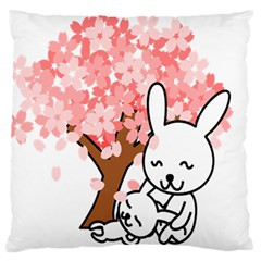 Rabbit Bunnies Animal Cute Tree Large Cushion Case (One Side)