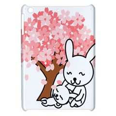 Rabbit Bunnies Animal Cute Tree Apple iPad Mini Hardshell Case