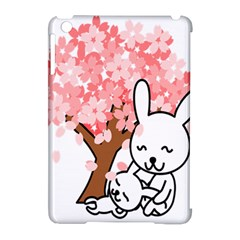 Rabbit Bunnies Animal Cute Tree Apple iPad Mini Hardshell Case (Compatible with Smart Cover)