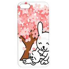 Rabbit Bunnies Animal Cute Tree Apple iPhone 5 Hardshell Case with Stand