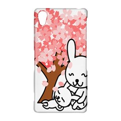 Rabbit Bunnies Animal Cute Tree Sony Xperia Z2