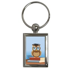 Read Owl Book Owl Glasses Read Key Chains (Rectangle)