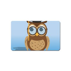 Read Owl Book Owl Glasses Read Magnet (Name Card)