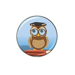 Read Owl Book Owl Glasses Read Hat Clip Ball Marker (10 pack)