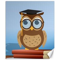 Read Owl Book Owl Glasses Read Canvas 8  x 10