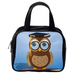 Read Owl Book Owl Glasses Read Classic Handbags (One Side)