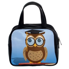 Read Owl Book Owl Glasses Read Classic Handbags (2 Sides)
