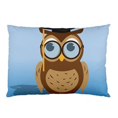 Read Owl Book Owl Glasses Read Pillow Case (Two Sides)
