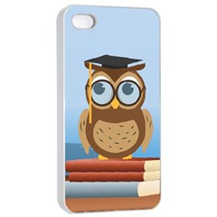Read Owl Book Owl Glasses Read Apple iPhone 4/4s Seamless Case (White)