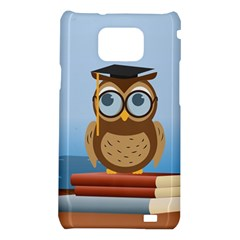 Read Owl Book Owl Glasses Read Samsung Galaxy S2 i9100 Hardshell Case