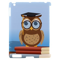 Read Owl Book Owl Glasses Read Apple iPad 2 Hardshell Case (Compatible with Smart Cover)