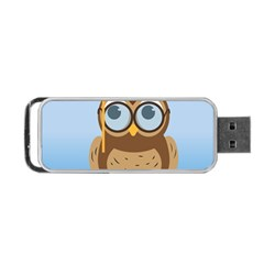 Read Owl Book Owl Glasses Read Portable USB Flash (One Side)