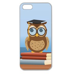Read Owl Book Owl Glasses Read Apple Seamless iPhone 5 Case (Clear)