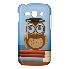 Read Owl Book Owl Glasses Read Samsung Galaxy Ace 3 S7272 Hardshell Case