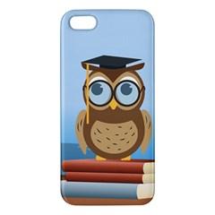 Read Owl Book Owl Glasses Read iPhone 5S/ SE Premium Hardshell Case