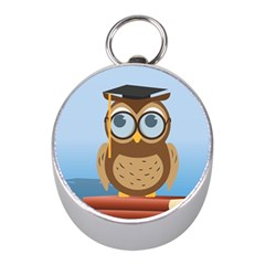 Read Owl Book Owl Glasses Read Mini Silver Compasses