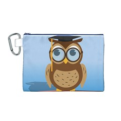 Read Owl Book Owl Glasses Read Canvas Cosmetic Bag (M)