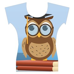Read Owl Book Owl Glasses Read Women s Cap Sleeve Top