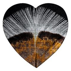 Spring Bird Feather Turkey Feather Jigsaw Puzzle (Heart)