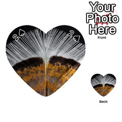 Spring Bird Feather Turkey Feather Playing Cards 54 (Heart)