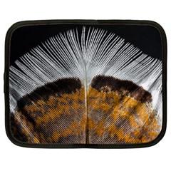 Spring Bird Feather Turkey Feather Netbook Case (XXL)