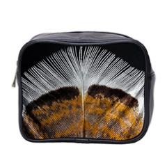 Spring Bird Feather Turkey Feather Mini Toiletries Bag 2-Side
