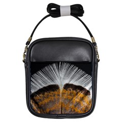 Spring Bird Feather Turkey Feather Girls Sling Bags