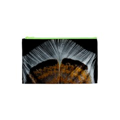 Spring Bird Feather Turkey Feather Cosmetic Bag (XS)