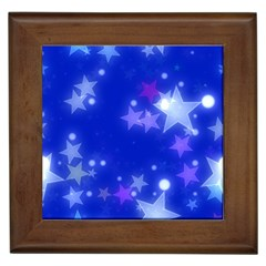 Star Bokeh Background Scrapbook Framed Tiles