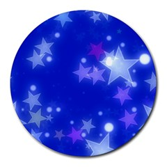 Star Bokeh Background Scrapbook Round Mousepads