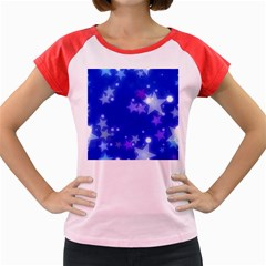 Star Bokeh Background Scrapbook Women s Cap Sleeve T-Shirt