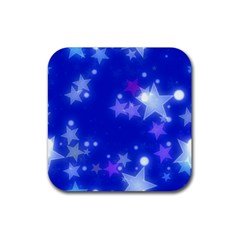 Star Bokeh Background Scrapbook Rubber Square Coaster (4 pack)