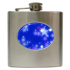Star Bokeh Background Scrapbook Hip Flask (6 oz)