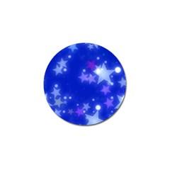 Star Bokeh Background Scrapbook Golf Ball Marker