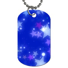 Star Bokeh Background Scrapbook Dog Tag (Two Sides)