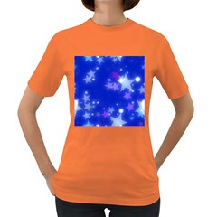 Star Bokeh Background Scrapbook Women s Dark T-Shirt