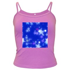 Star Bokeh Background Scrapbook Dark Spaghetti Tank