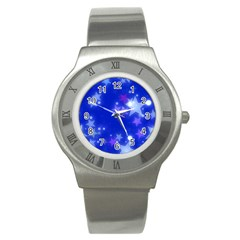 Star Bokeh Background Scrapbook Stainless Steel Watch