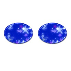 Star Bokeh Background Scrapbook Cufflinks (Oval)