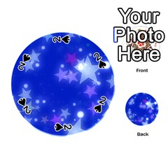 Star Bokeh Background Scrapbook Playing Cards 54 (Round)