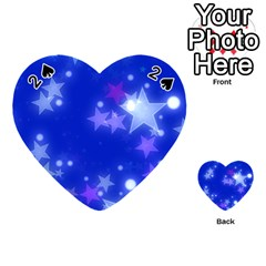 Star Bokeh Background Scrapbook Playing Cards 54 (Heart)