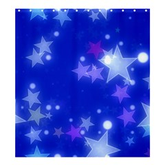 Star Bokeh Background Scrapbook Shower Curtain 66  x 72  (Large)