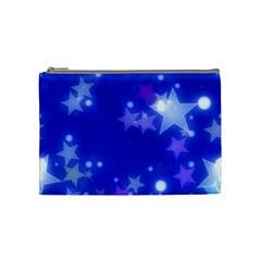 Star Bokeh Background Scrapbook Cosmetic Bag (Medium)