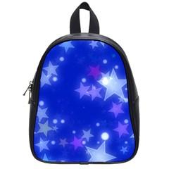 Star Bokeh Background Scrapbook School Bags (Small)