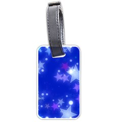 Star Bokeh Background Scrapbook Luggage Tags (One Side)