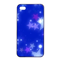 Star Bokeh Background Scrapbook Apple iPhone 4/4s Seamless Case (Black)