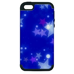 Star Bokeh Background Scrapbook Apple iPhone 5 Hardshell Case (PC+Silicone)
