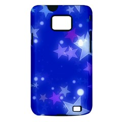 Star Bokeh Background Scrapbook Samsung Galaxy S II i9100 Hardshell Case (PC+Silicone)